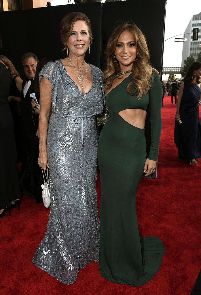Rita Wilson and Jennifer Lopez at the BAFTA Brits to Watch event in LA.