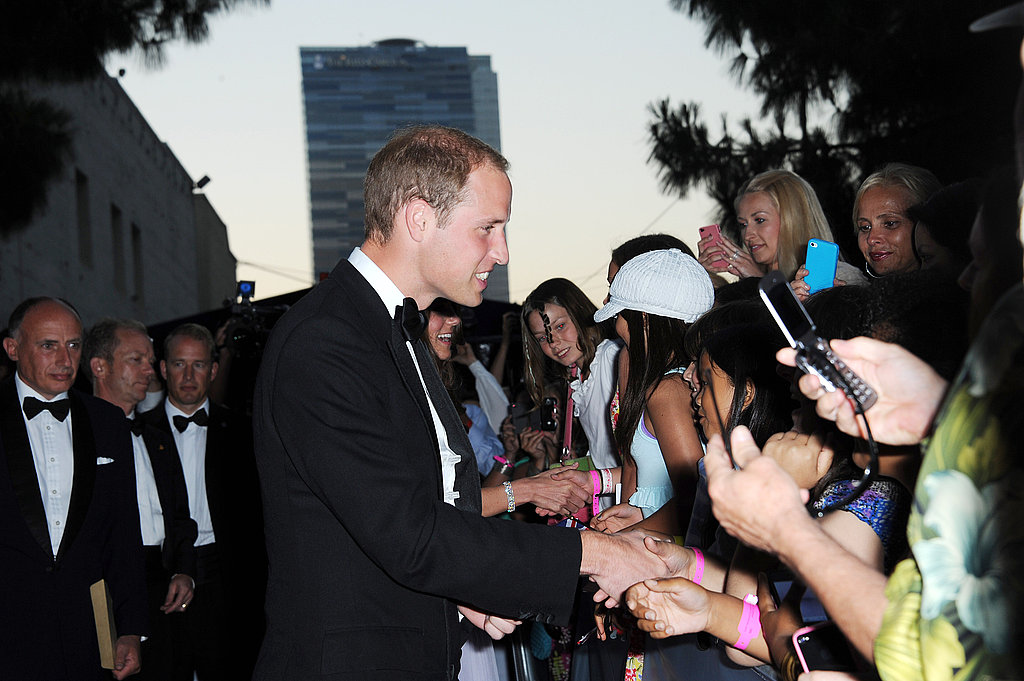 Prince William at the BAFTA Brits to Watch event in LA.