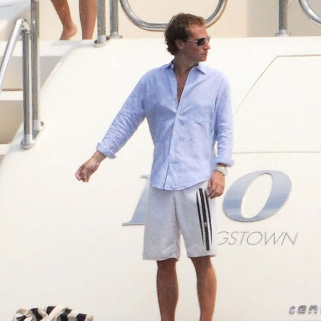 Dave Clark on a yacht in St. Tropez.