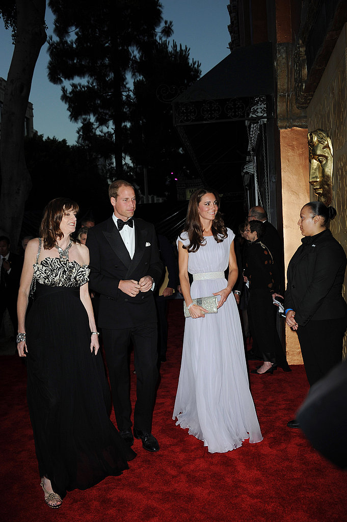 Prince William and Kate Middleton arrive at the BAFTA Brits to Watch event in LA.