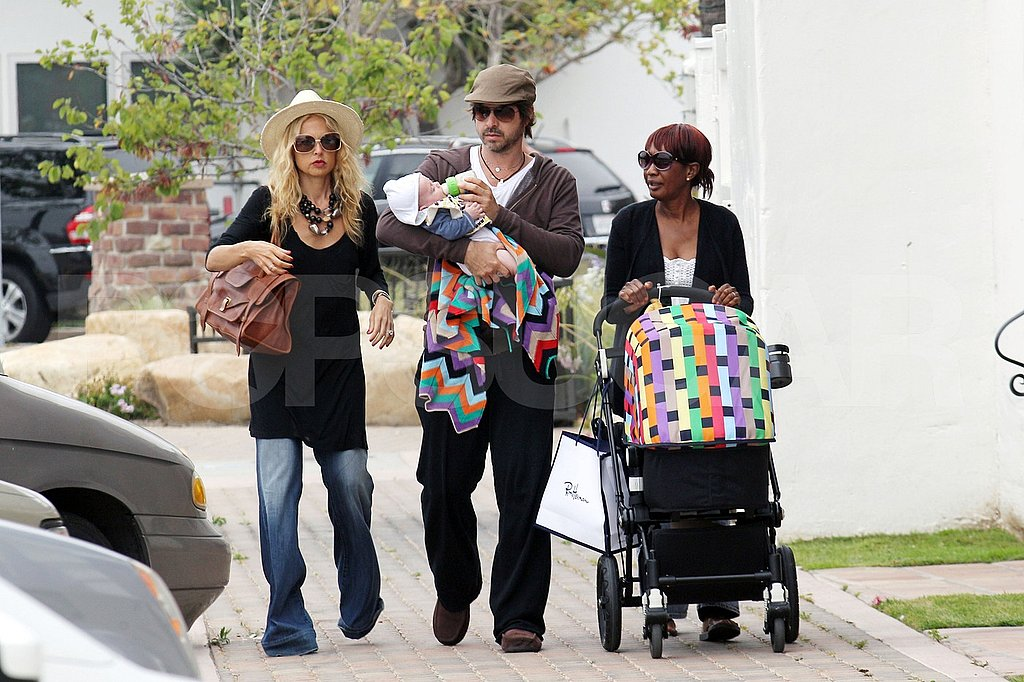 Rachel Zoe and Rodger Berman had their son, Skyler Berman, on a shopping trip in Malibu.