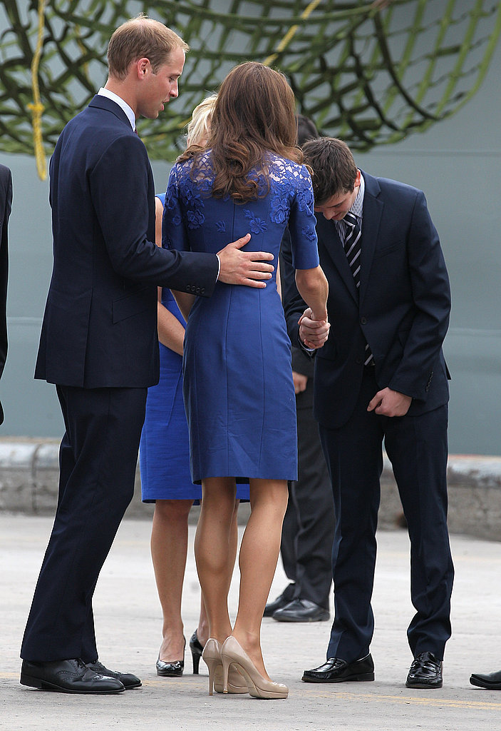 Prince William and Kate Middleton spent the evening of July 2 on a warship before stepping out the next morning in Quebec City.