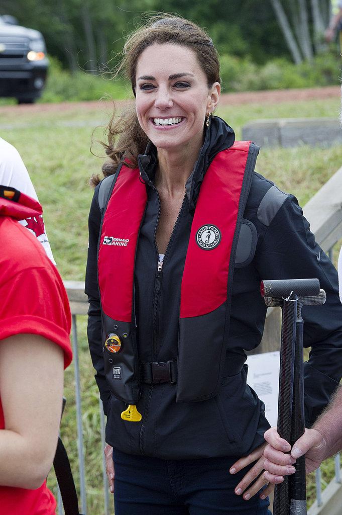 Kate Middleton put safety first.