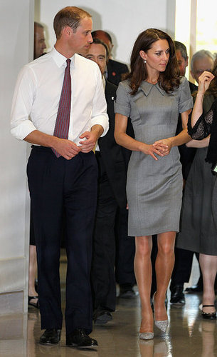 Prince William rolled up his sleeves as he and Kate Middleton started their day.