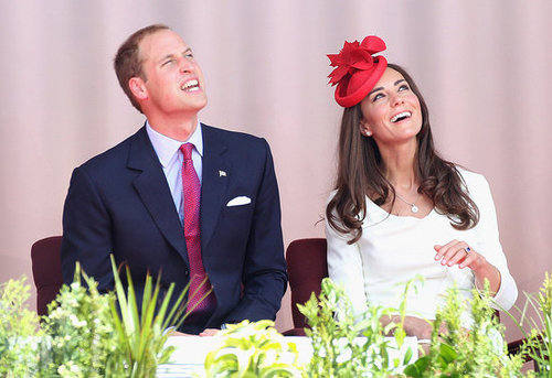 Prince William and Kate Middleton flashed a smile during the celebration.