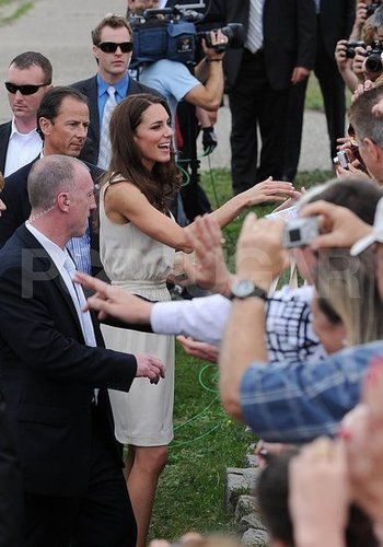 Fans snapped pictures of Kate Middleton.