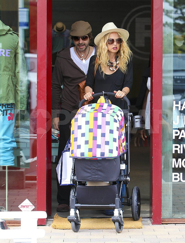 Rachel Zoe and Rodger Berman pushed baby Sky