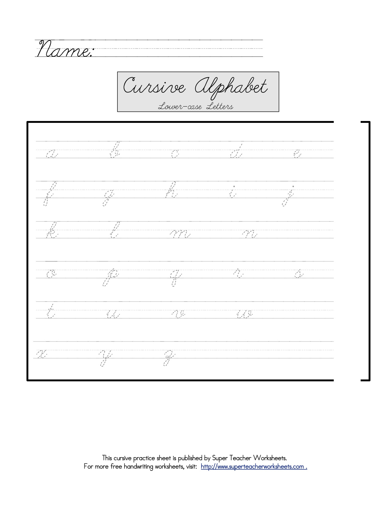 super teacher worksheets free lean into it tools for teaching tots cursive if their schools. Black Bedroom Furniture Sets. Home Design Ideas