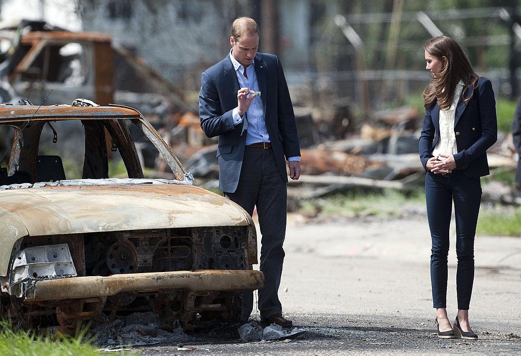 Kate Middleton and Prince William visit Alberta.
