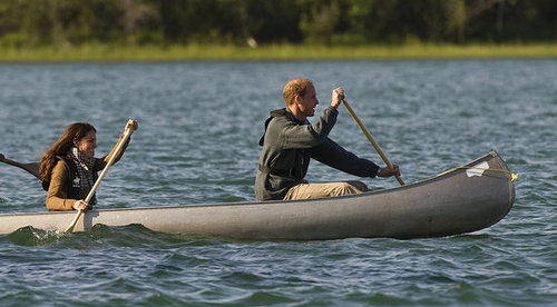 Kate Middleton and Prince William canoed Blatchford Lake.