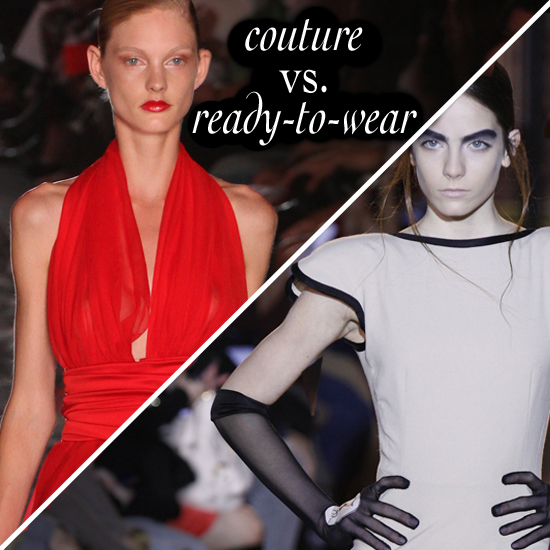 Haute Couture Runway Pictures: Couture vs. Ready-to-Wear Fashion Game