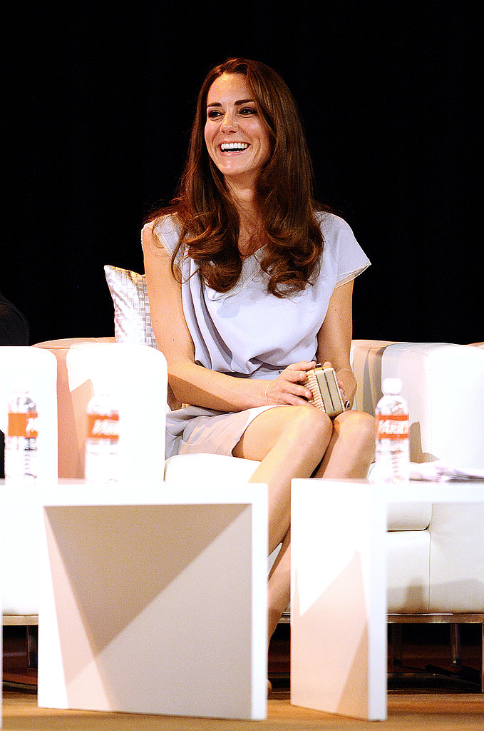 Kate Middleton on stage at technology conference.