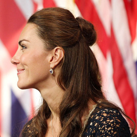 Kate Middleton's Half-Up, American Visit Hairstyle