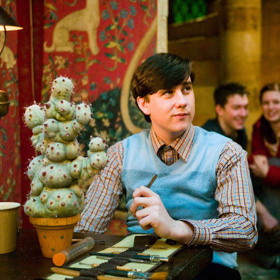 Neville Longbottom has always had an affinity for plants. Here he is in Harry Potter and the Order of the Phoenix.