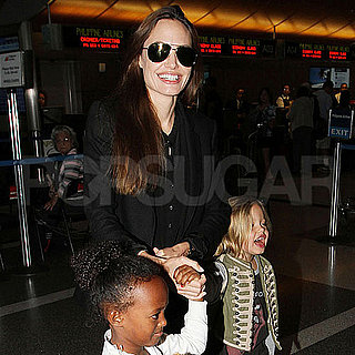 Angelina Jolie Arriving in LA With Zahara and Shiloh Jolie-Pitt Pictures