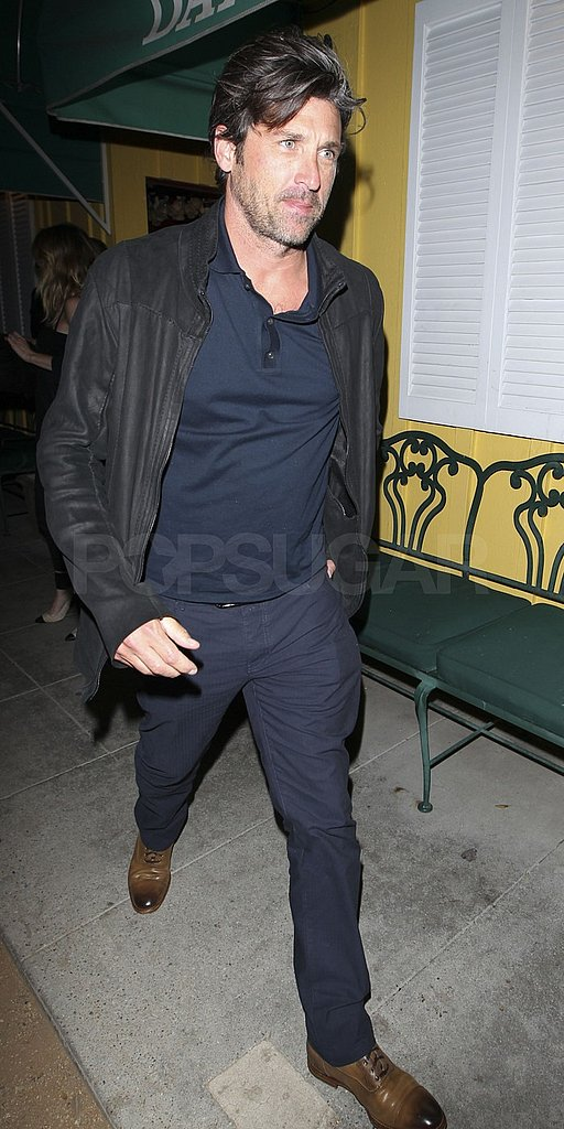 Patrick Dempsey enjoyed a friendly dinner date with a friend.