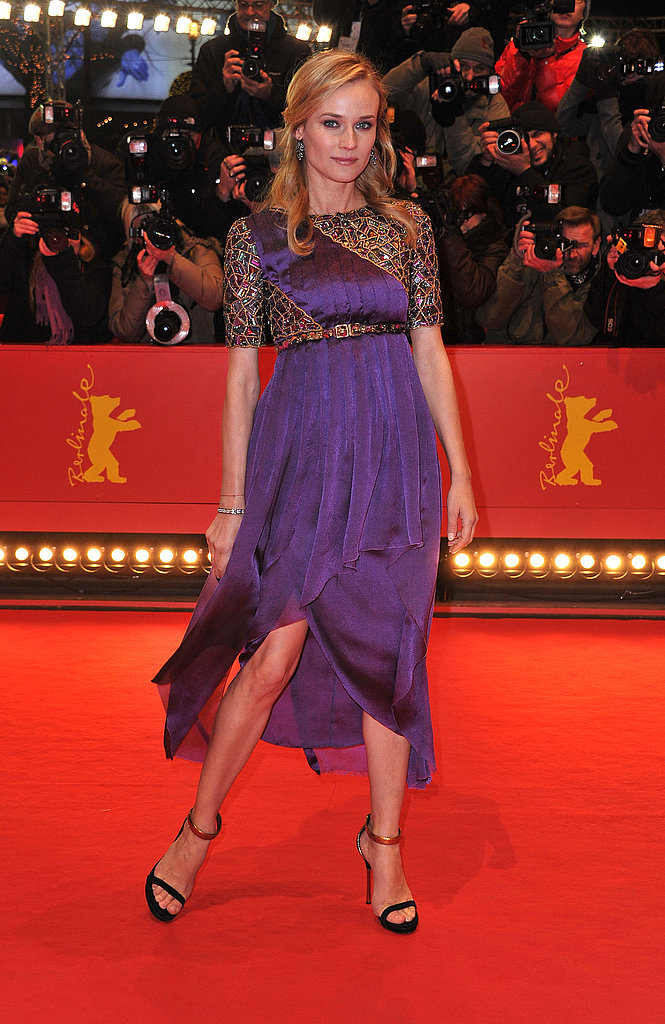 Didn T She Look Positively Regal In A Violet Chanel Dress