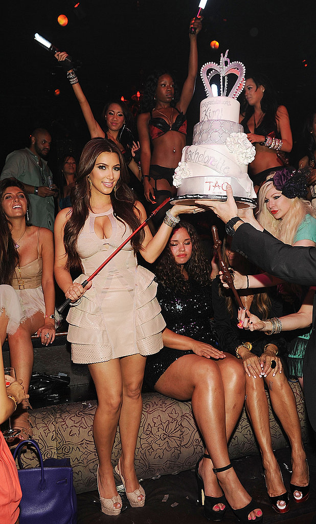 Kim Kardashian celebrated her final days as a single lady.