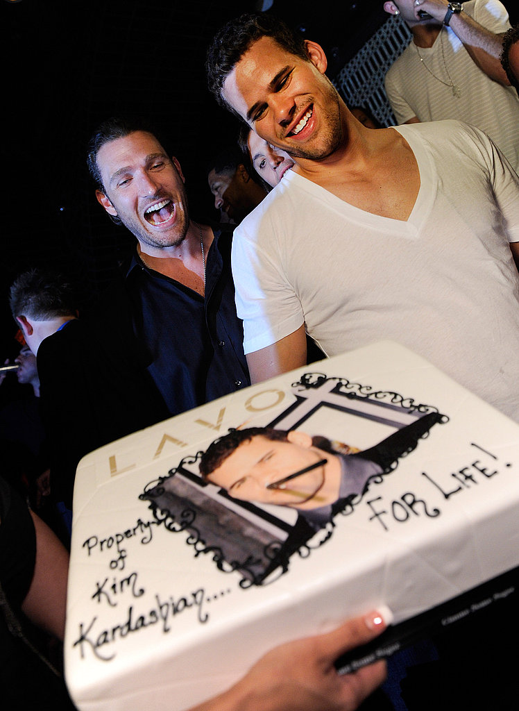 Kris Humphries blew out his bachelor cake.