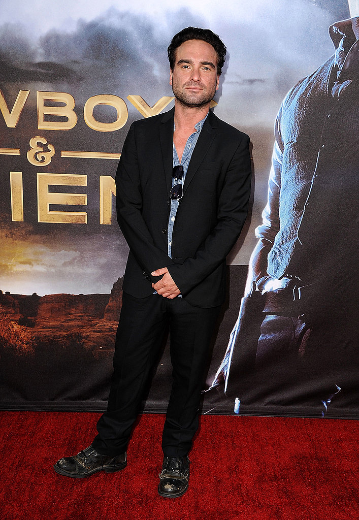 Johnny Galecki stopped to pose for a photo.
