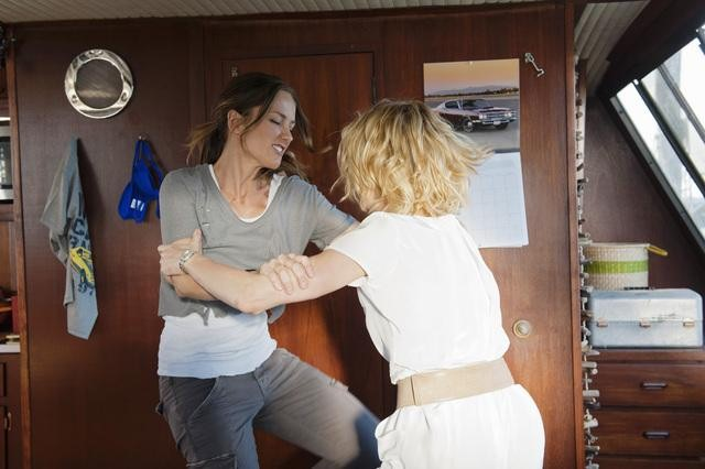 Minka Kelly and Rachael Taylor in ABC&#039;s Charlie Angels.