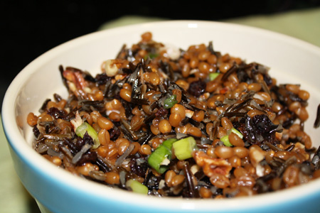 Vegan Wild Rice and Wheat Berry Salad
