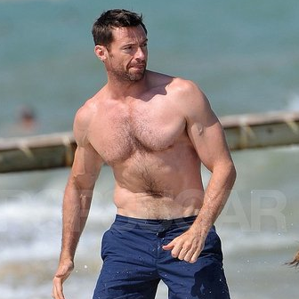 Shirtless Hugh Jackman Pictures on a Family Vacation