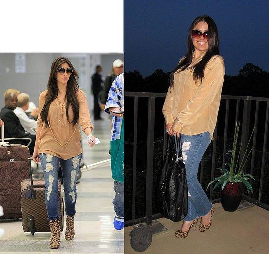 Kim Kardashian inspired look