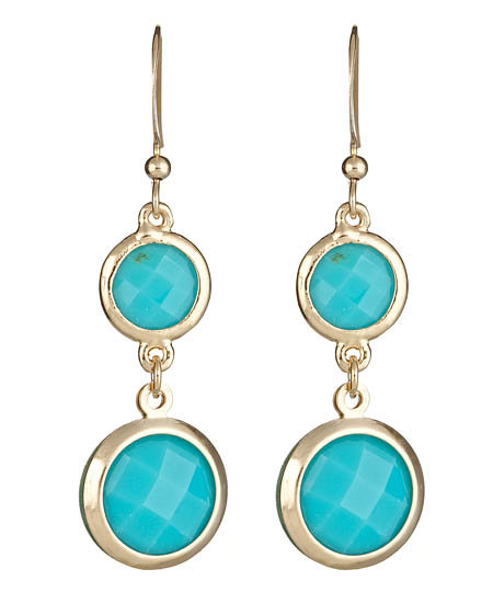Blu Bijoux Blue Double-Drop Earrings ($18)