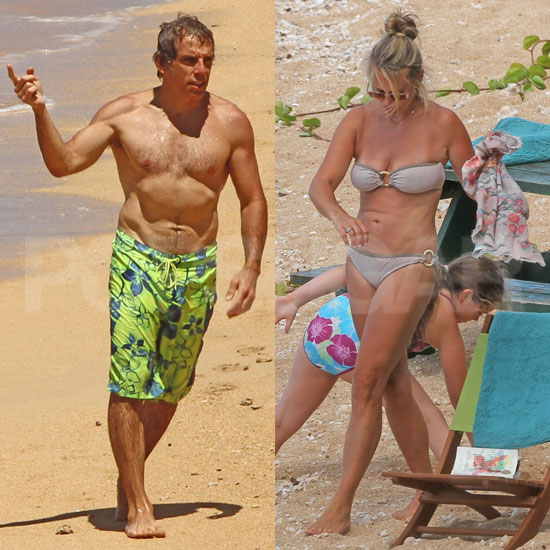 Ben Stiller and Christine Taylor Flaunt Hot Beach and Bikini Bodies in Hawaii For Her 40th!