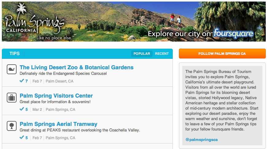 Palm Springs on Foursquare
