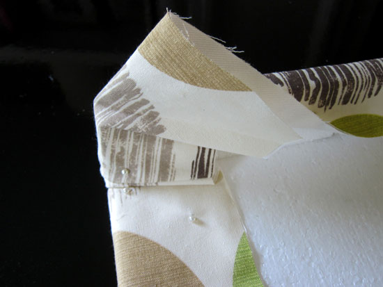 Wrap Fabric Around Corners