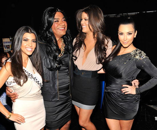 Kourtney, Khloé and Kim Kardashian found a long-lost member of their family, played by George Lopez during a 2010 spoof.