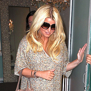 Jessica Simpson Wearing a Short Sequin Dress Pictures