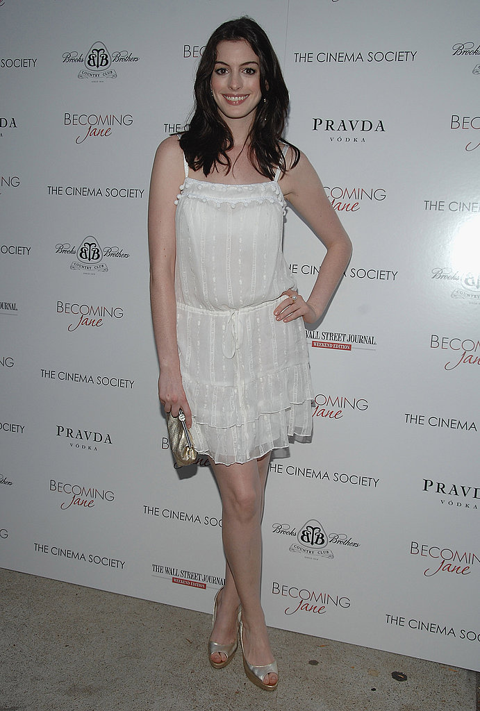 Channeling summery fresh style in an LWD July 2007 at the screening of Becoming Jane in East Hampton.