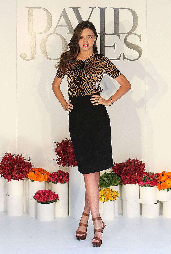 Miranda Kerr for David Jones in Melbourne.