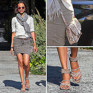 Zoe Saldana Mini Skirt Style