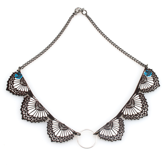 Miss Wax Lace Collar Necklace, $48
