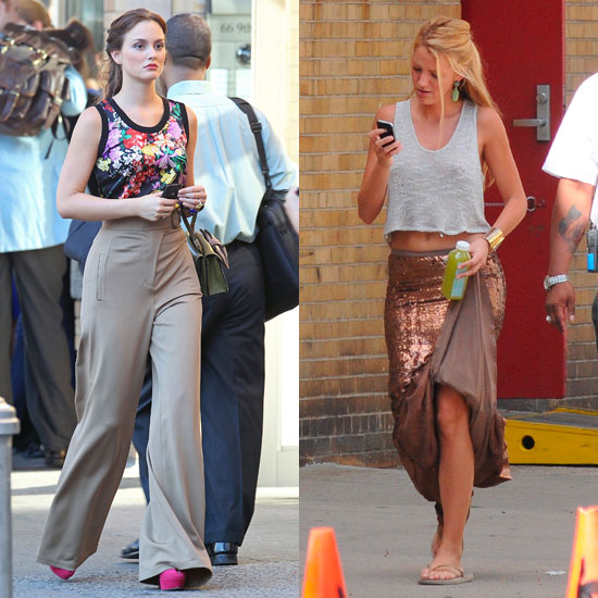 Blake Lively Gives a Peek at Her Perfect Abs Shooting Gossip Girl With Leighton