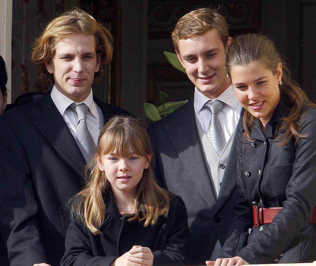 Charlotte and all her siblings stuck together during a ceremony for Monaco's National Day in November 2009.