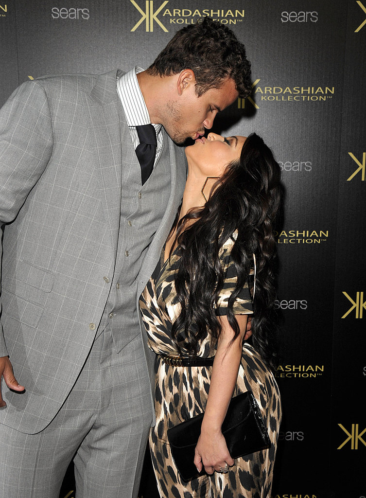 Soon-to-be married Kim Kardashian and Kris Humphries.