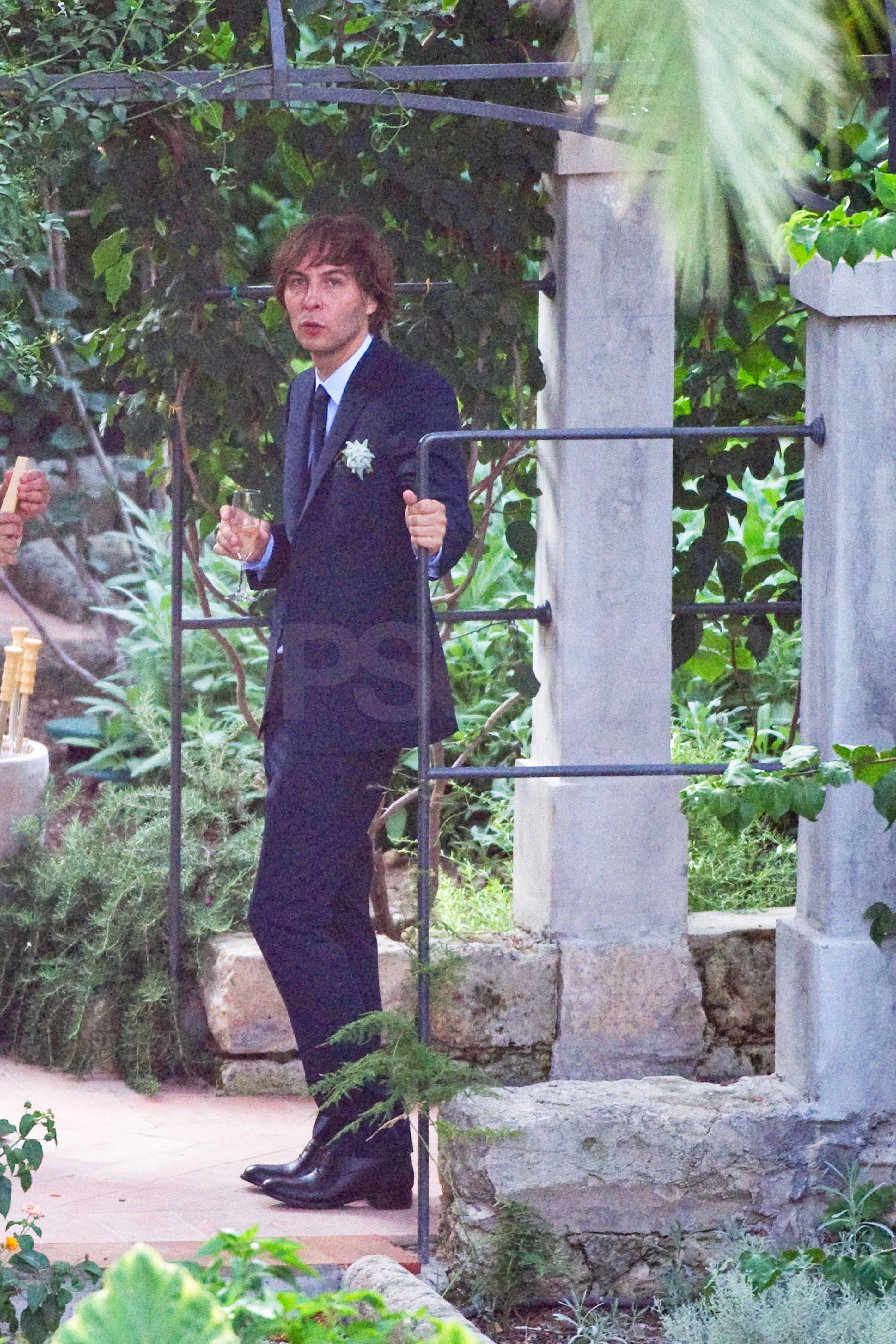Thomas Mars chatted with friends at the reception.