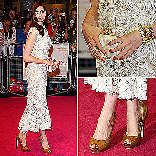 See Anne Hathaway in Alexander McQueen at One Day Premiere in London, From All the Angels!