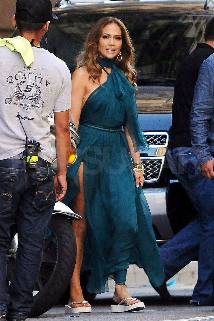 Jennifer Lopez in a Gown Shooting Music Video Pictures | POPSUGAR ...