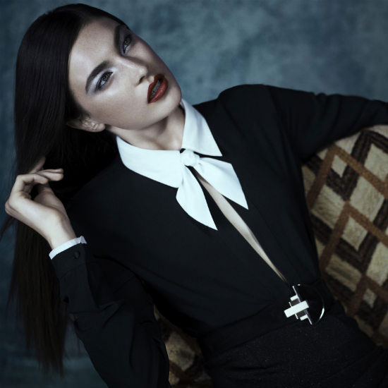 Tie Neck Blouses For Fall 2011