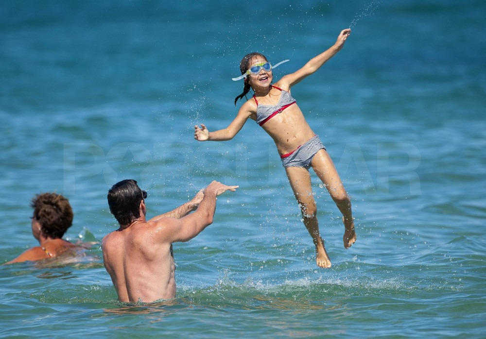 Ava loved getting tossed into the sea.