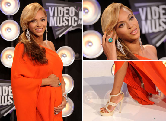 Beyonce Shows Off Her Pregnancy in Lanvin at the 2011 MTV Video Music Awards