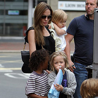 Brad Pitt and Angelina Jolie Pictures With Kids Seeing Smurfs