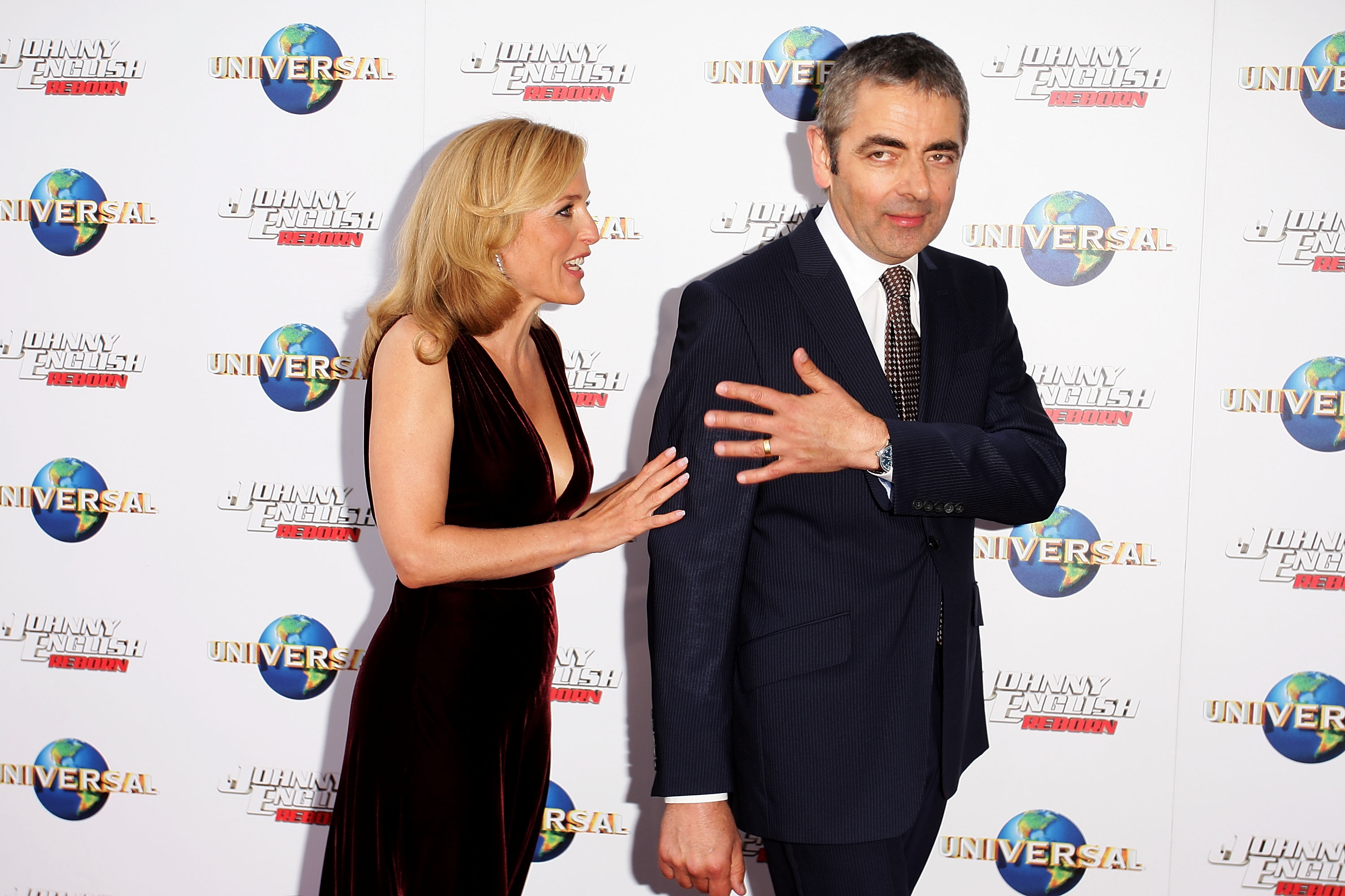 Gillian Anderson and Rowan Atkinson