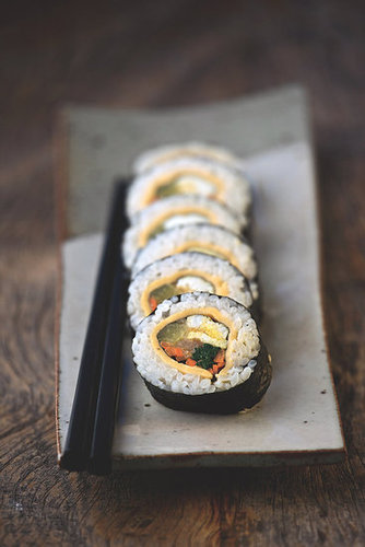 Gimbap (Rice and Fillings Wrapped with Seaweed)
